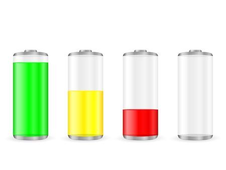 lading: Batterij met het niveau van de lading. Stock Illustratie