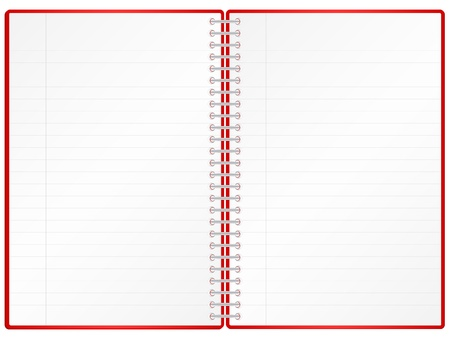 Blank notepad isolated on white background. Stock Vector - 8598939