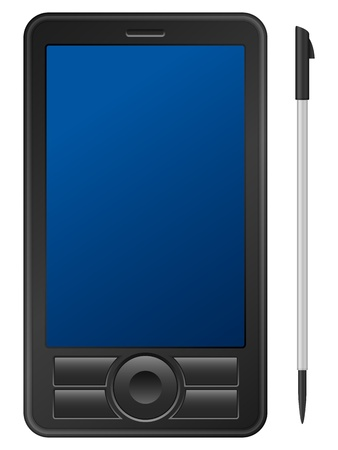 agenda electr�nica: PDA aislado en un fondo blanco.