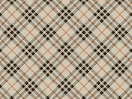 Seamless plaid fabric pattern background.  Vector
