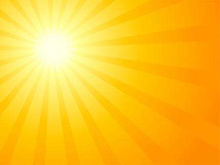 Cielo arancione e sole drammatica.  Vettoriali