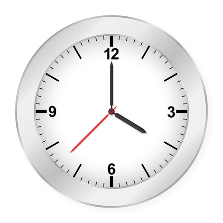 Clock isolated on white background. Stock Vector - 8598972