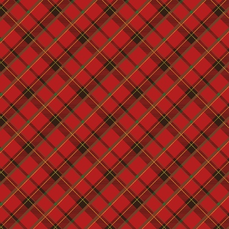 red  plaid: Seamless plaid fabric pattern background.   illustration.