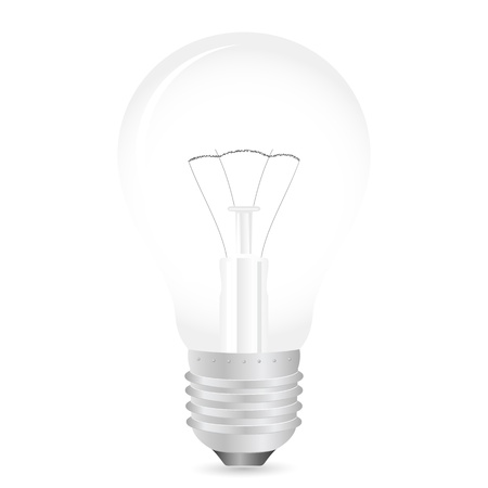 Light bulb on a white background.  illustration. Stock Vector - 8695102