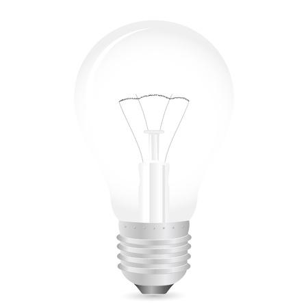 wolfram: Light bulb on a white background.  illustration. Illustration