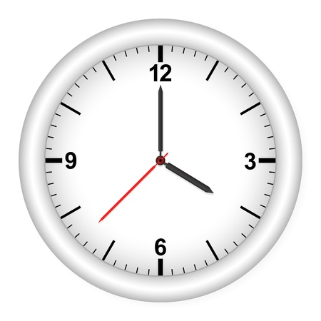 Clock isolated on white background.   illustration. Stock Vector - 8695099