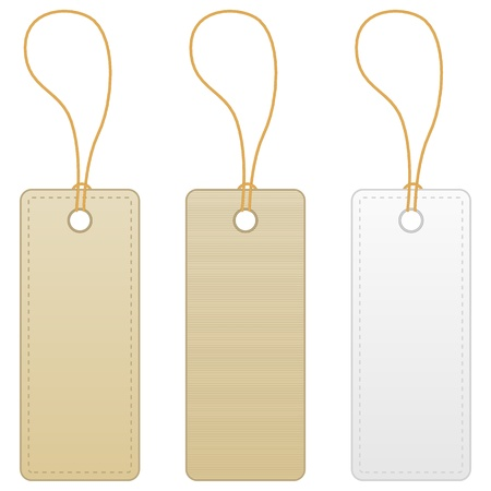 Blank label tag isolated on white background. Vector illustration.