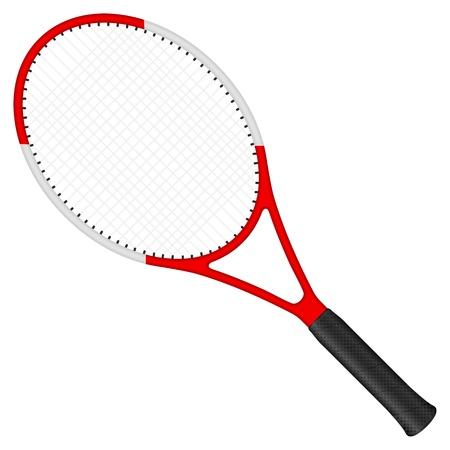 Raqueta de tenis aislado en un fondo blanco. Ilustración vectorial.