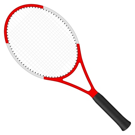 tennis racquet: Tennis racket isolated on a white background. Vector illustration.