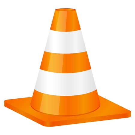 Traffic cone isolated on a white background. Vector illustration. Stock Vector - 8784622