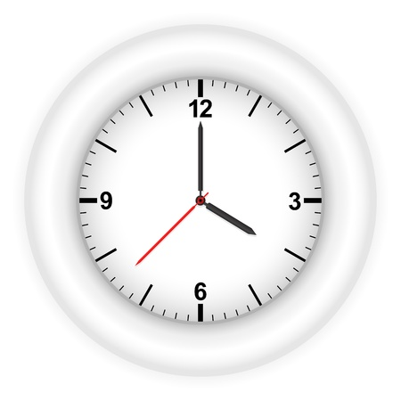 Clock isolated on white background. Vector illustration. Stock Vector - 8784644