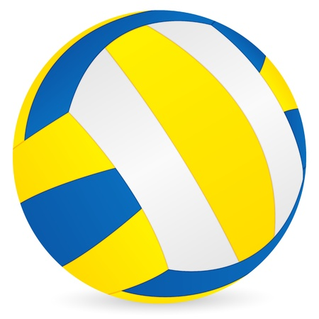 volleyball: Volleyball ball on a white background. Vector illustration.