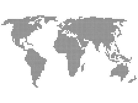 formed: World map formed by dots. Vector illustration.