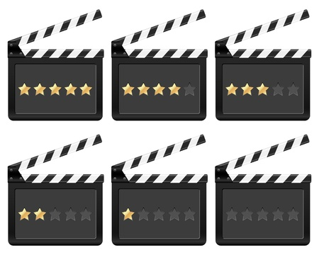 Movie clapper board on a white background.  Vector