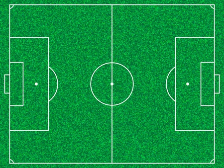 Soccer field with grass texture.  Vector