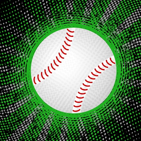 Abstract grunge baseball background. Vector illustration. Vector