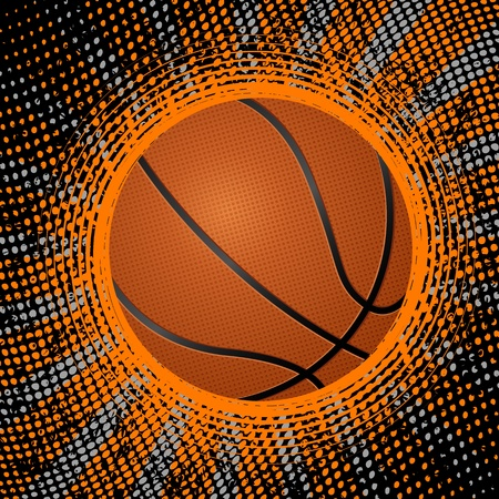 Abstract grunge basketball background. Vector illustration. Vector