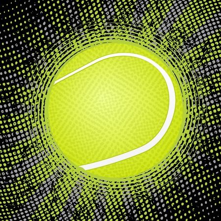 tennis ball: Abstract grunge tennis background. Vector illustration.