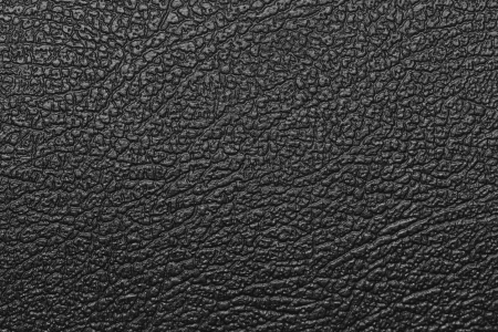Black leather texture background. photo