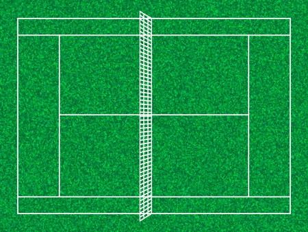 tennis court: Tennis court with grass texture. illustration.
