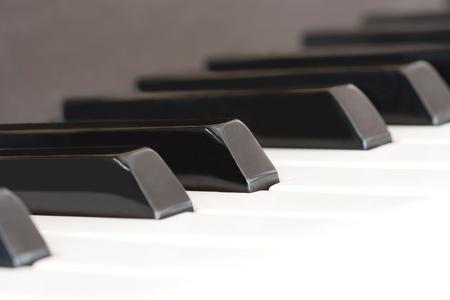 Close-up shot of piano keys. photo