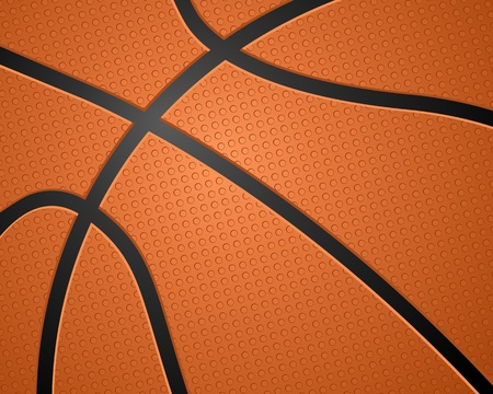 Texture de basket ball. Illustration vectorielle. Vecteurs