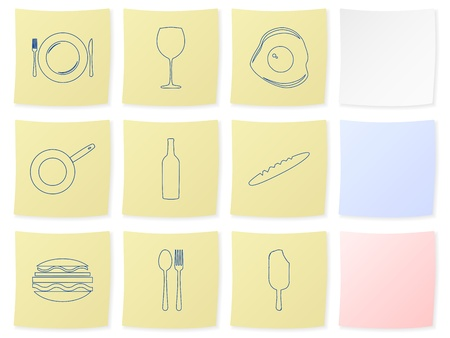 Food icon set on a white background. Vector illustration. Vector