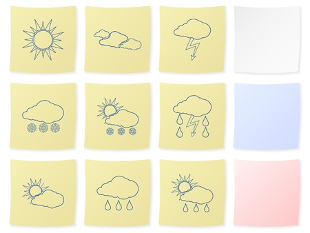Weather icon set on a white background. Vector illustration. Vector