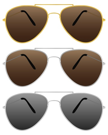 Modern sunglasses on a white background. Vector illustration. Stock Vector - 9517198