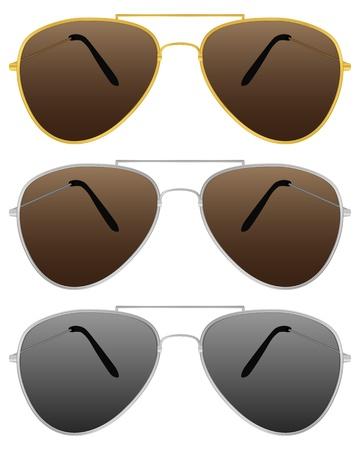 Modern sunglasses on a white background. Vector illustration. Stock Vector - 9517198