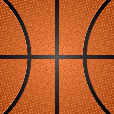 balon baloncesto: Textura de pelota de baloncesto. Ilustración vectorial.