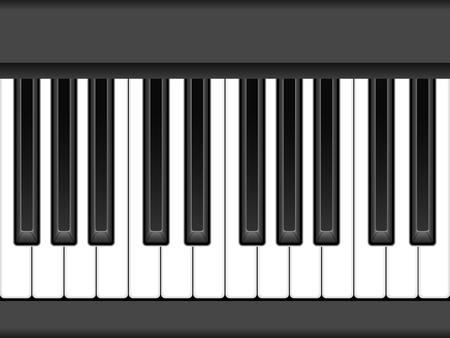 Close-up piano keyboard. Vector illustration. Vector