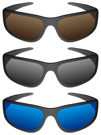 Sport sunglasses on a white background. Vector illustration. Stock Vector - 9565945