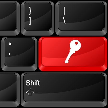 Keyboard computer button key. Vector illustration. Stock Vector - 9637629