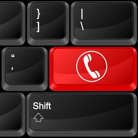 Keyboard computer button phone. Vector illustration. Stock Vector - 9637640