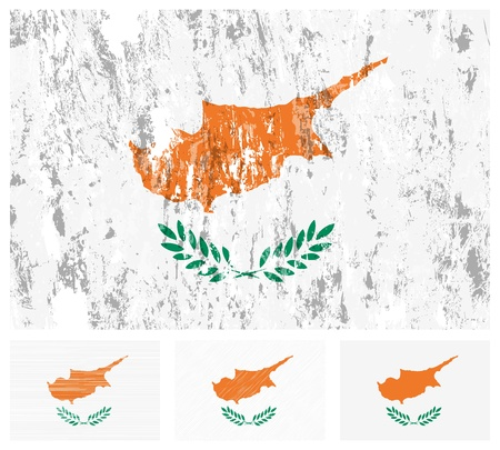 cyprus: Cyprus grunge flag set on a white background.  Illustration