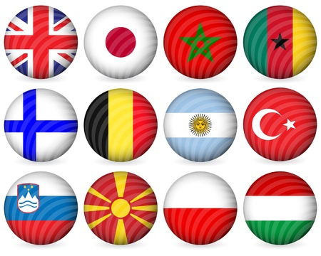National circle icon collection set on a white background. Vector illustration. Vector