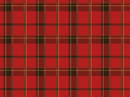 red plaid: Seamless plaid fabric pattern background. Vector illustration. Illustration
