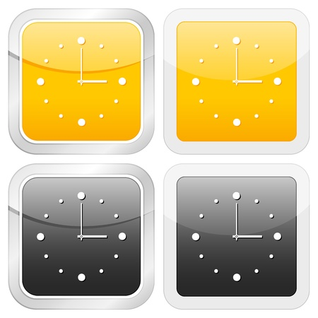 square icon clock set on white background. Vector illustration. Stock Vector - 9827309