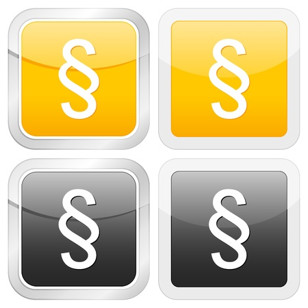 paragraph: square icon paragraph set on white background. Vector illustration. Illustration