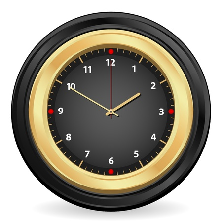 Clock isolated on white background. Vector illustration. Stock Vector - 9930975