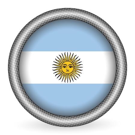 bandera argentina: Argentina bot�n de bandera