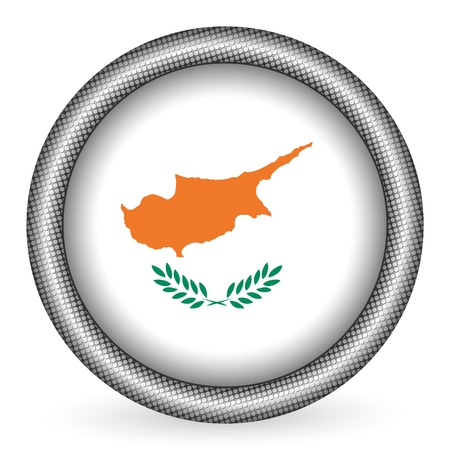 cyprus: Cyprus flag button  Illustration