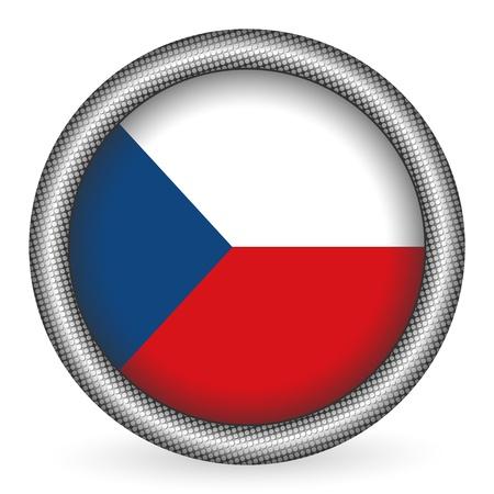 czech republic: Czech Republic flag button  Illustration
