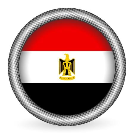 Egypt flag button  Vector