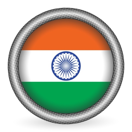 drapeau inde: Inde bouton drapeau Illustration