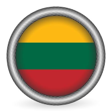 lithuania flag: Lithuania flag button  Illustration