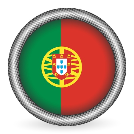 drapeau portugal: Bouton drapeau du Portugal