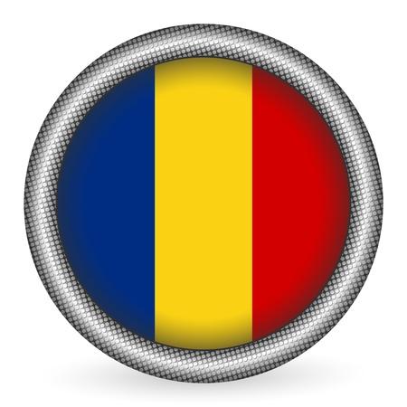 romania: Romania flag button