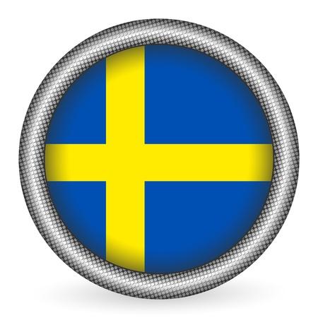 schweden flagge: Schweden-Flagge Button Illustration